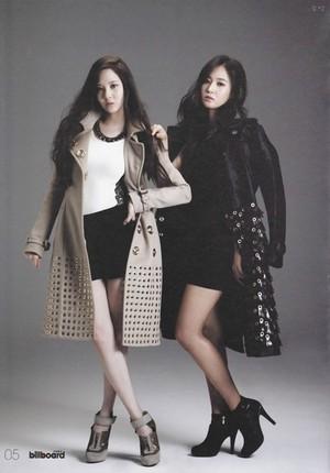 Yuri and Seohyun for Billboard