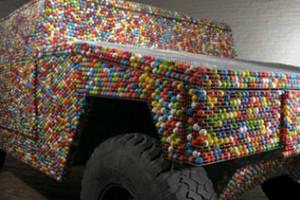 chewing gum car