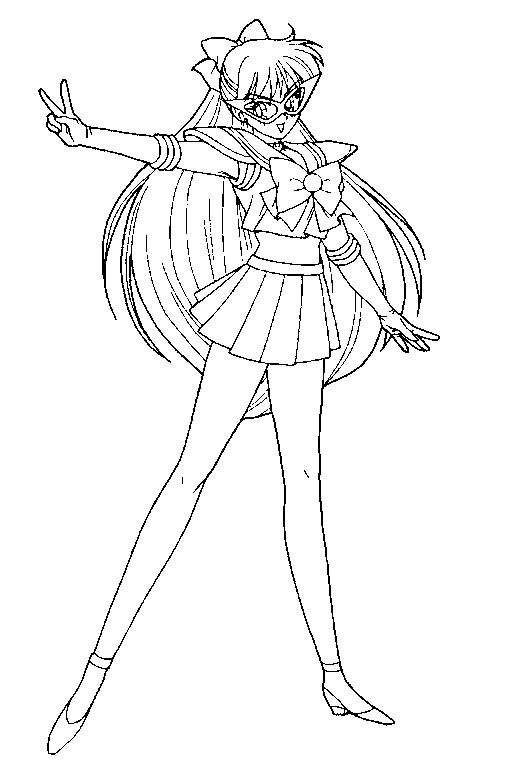 Codename Sailor V Images Coloring Page Sailor V Hd