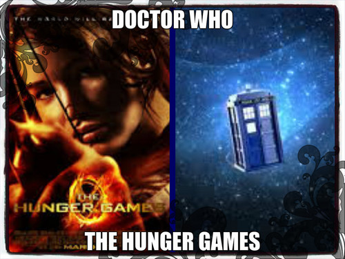 GIFs wallpaper probably with a videocassette and anime called doctor who and the hunger games