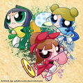 edo girls - powerpuff-girls photo