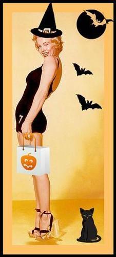 Halloween wallpaper with a snap brim hat a felt hat and a campaign