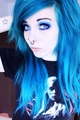 ira, vampira, emo, girl, scene, queen, pastel goth, white hair, blonde, vampire, doll, blue hair - emo photo