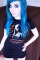 ira, vampira, emo, girl, scene, queen, pastel goth, white hair, blonde, vampire, doll, blue hair