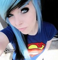 ira, vampira, emo, girl, scene, queen, pastel goth, white hair, blonde, vampire, doll, blue hair - emo-girls photo