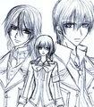kaname,yuuki,zero - vampire-knight fan art