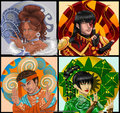 katara, zuko, aang, toph - benders-of-avatar photo