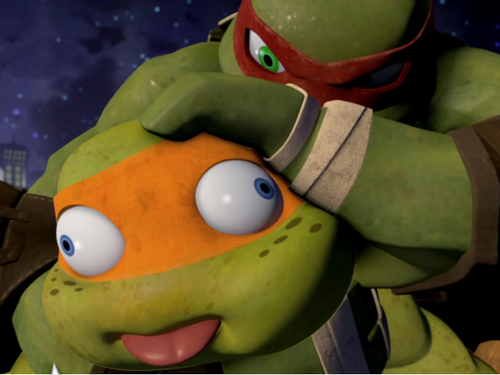 2012 Teenage Mutant Ninja Turtles wallpaper called mikey
