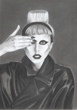my Lady Gaga drawing