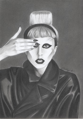 Lady Gaga karatasi la kupamba ukuta called my Lady Gaga drawing