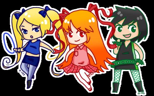 Powerpuff Girls wallpaper with anime titled powerpunk girls