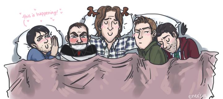 slumber party - Supernatural Fan Art (35931935) - Fanpop