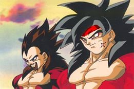 Dragon Ball Z karatasi la kupamba ukuta containing anime called ssj4 bardock and king vegeta