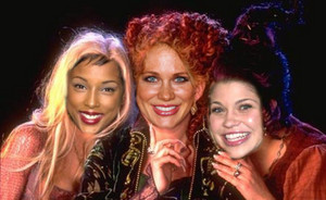 the girls as the witches of Hocus Pocus