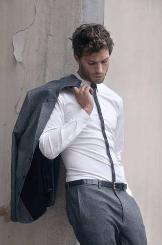 Fifty Shades of Grey wallpaper probably containing a business suit titled the new Christian Grey : Jamie Dornan
