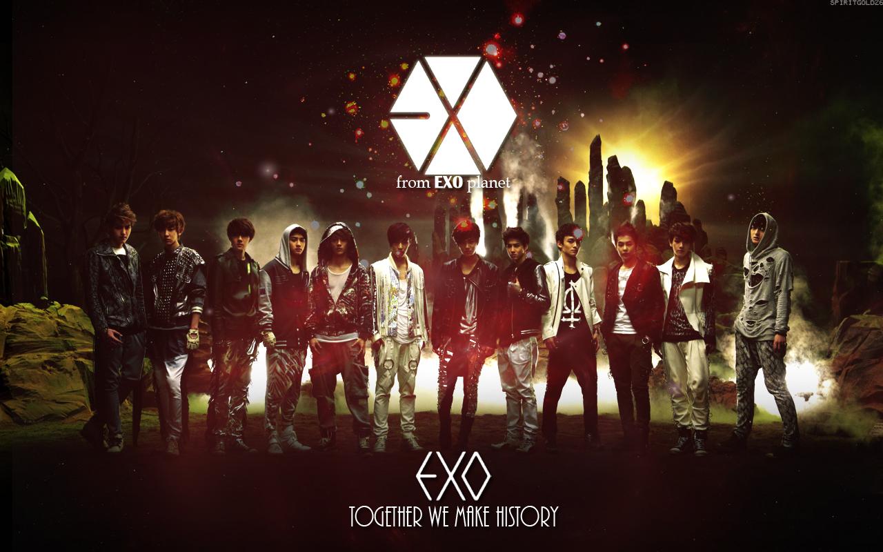 Exo exo wallpaper 36006244 fanpop - Exo background ...