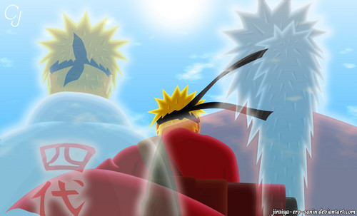 Naruto - Shippuden wallpaper probably containing a fontana called *Minato*Naruto*Jiraya*