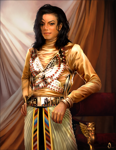 "Michael Jackson achtergrond probably containing a cocktail dress, a kirtle, and a surcoat titled ""Remember The Time"""