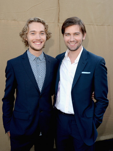 Toby Regbo 壁纸 containing a business suit, a suit, and a three piece suit entitled Summer TCA party '13