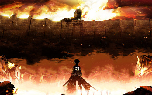 Shingeki no Kyojin (Attack on titan) wallpaper with a fire titled AOT Wallpapers