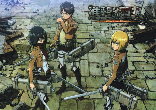 shingeki no kyojin (attack on titan) wallpaper probably containing a breastplate and a penembak dgn senapan called AOT wallpaper