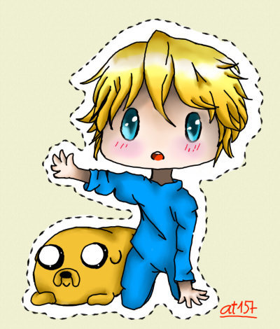 Adventure Time With Finn and Jake wallpaper probably containing anime called Baby Finn and Jake