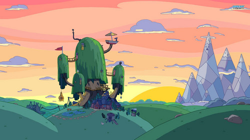 Adventure Time With Finn and Jake wallpaper possibly containing a parasol called A legit AT background that y'all can use.