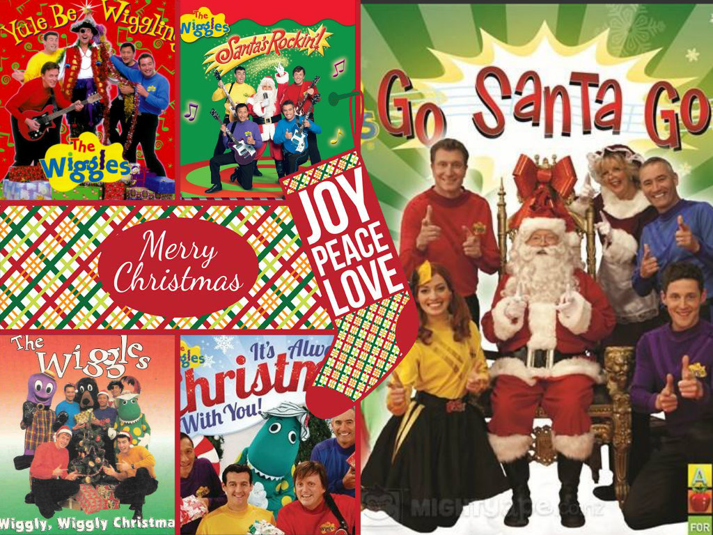 All 5 Of The Wiggles navidad DVD's