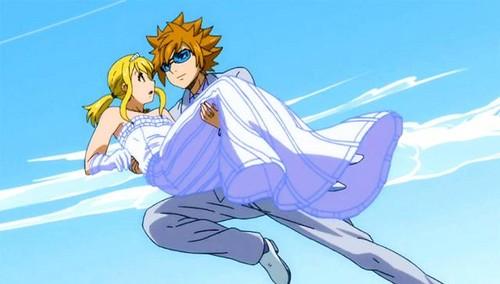 Anime Hintergrund called Loke x Lucy