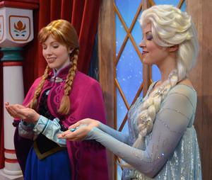 Anna and Elsa at Epcot