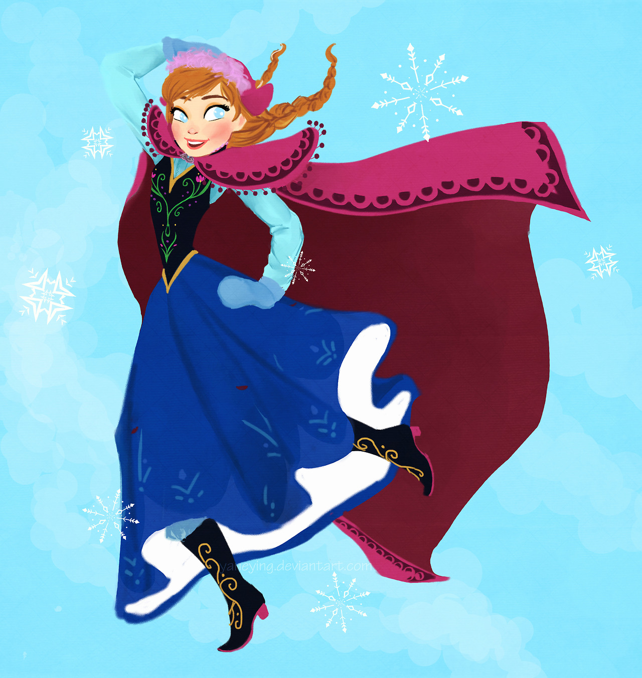 Anna - Frozen Fan Art (36044691) - Fanpop