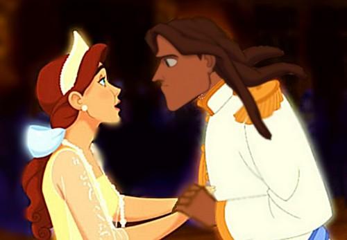 डिज़्नी क्रॉसोवर वॉलपेपर probably with ऐनीमे entitled Anya and Tarzan
