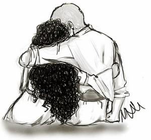 A/G Hug drawing