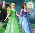 Liana and Alexa in Green - barbie-movies fan art