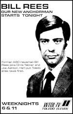 Bill Rees, News anchor for WTOL, 1974