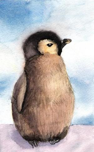 baby pinguim fanart