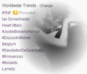 Worldwide Trends on Twitter / 7.11.2013 → happy limoversary