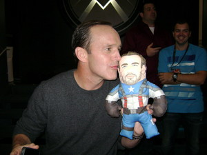 Clark Gregg and Captain America