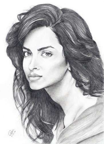 Deepika Padukone wallpaper containing a portrait titled Cuty Hotty Deepika