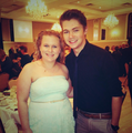 Damian with a fan - damian-mcginty photo