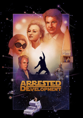 Arrested Development wallpaper possibly with a sign titled Development Wars