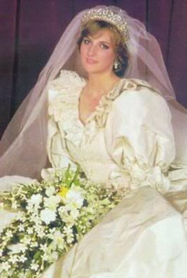 Diana On Her Wedding dag Back In 1981