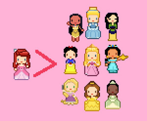 8-Bit disney Princesses