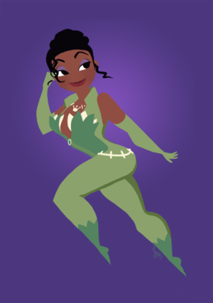 Miss Tiana as volpe femmina, vixen
