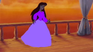 Ariel dressed in purple
