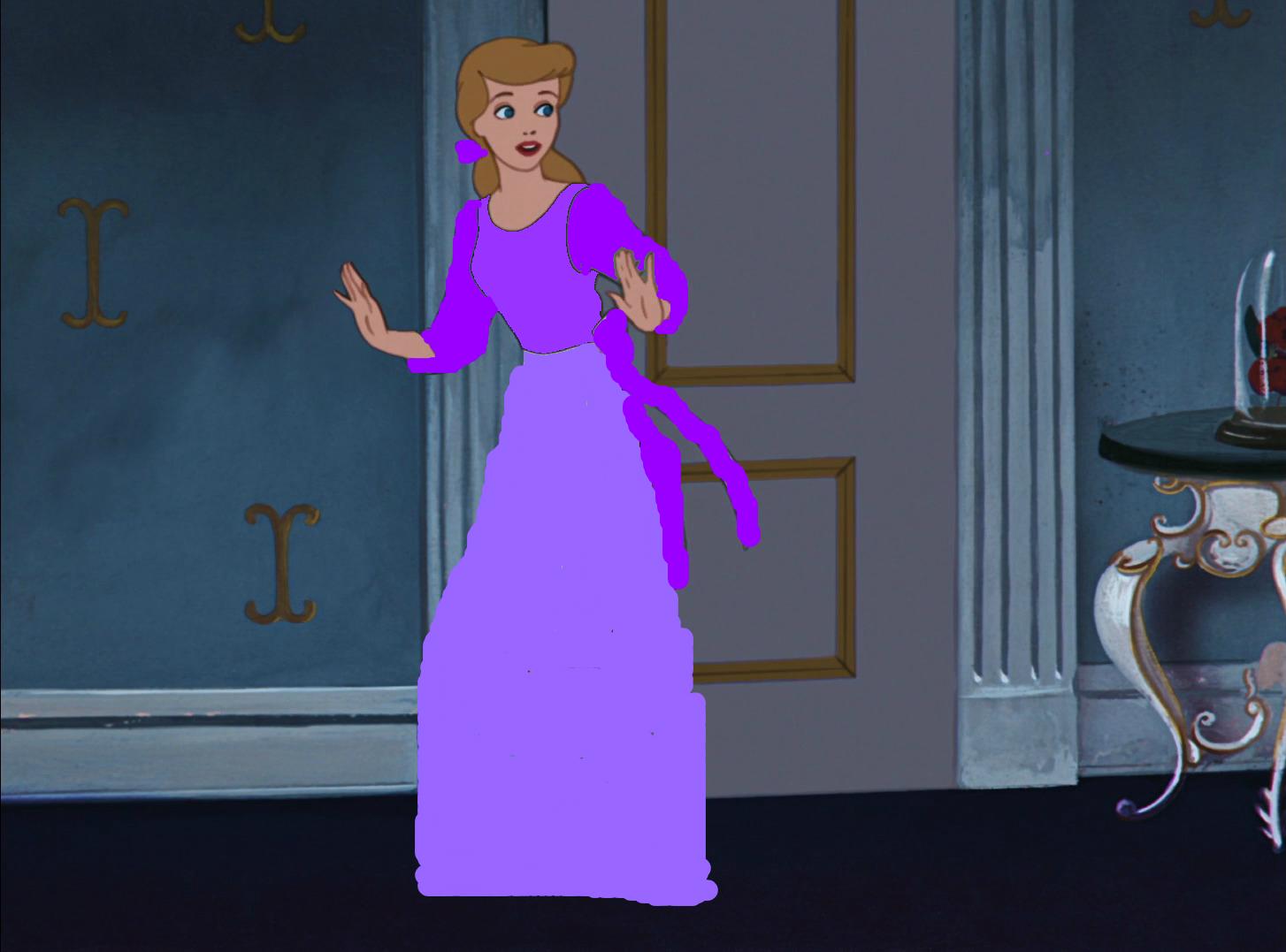 Cinderella Dressed in Purple