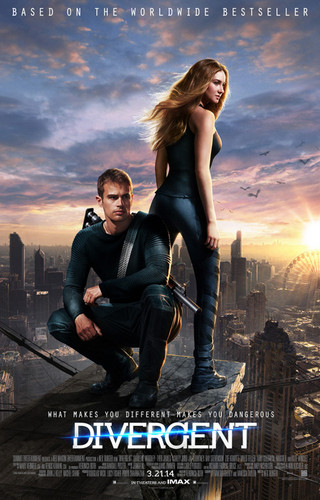 Divergent দেওয়ালপত্র containing a sunset titled Divergent - official poster