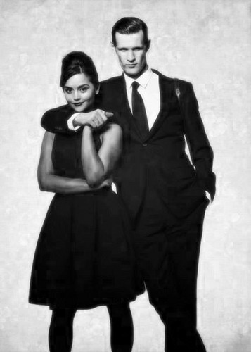 doctor who wallpaper with a business suit and a well dressed person titled my favorito Matt and Jenna fotografia