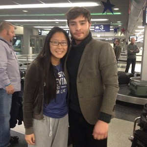 Ed Westwich spotted at the Ohare Airport in Chicago