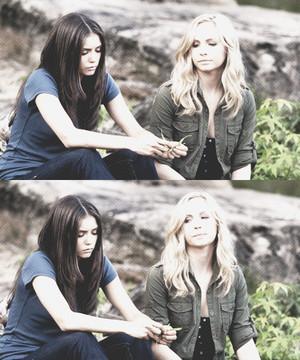 Elena and Caroline